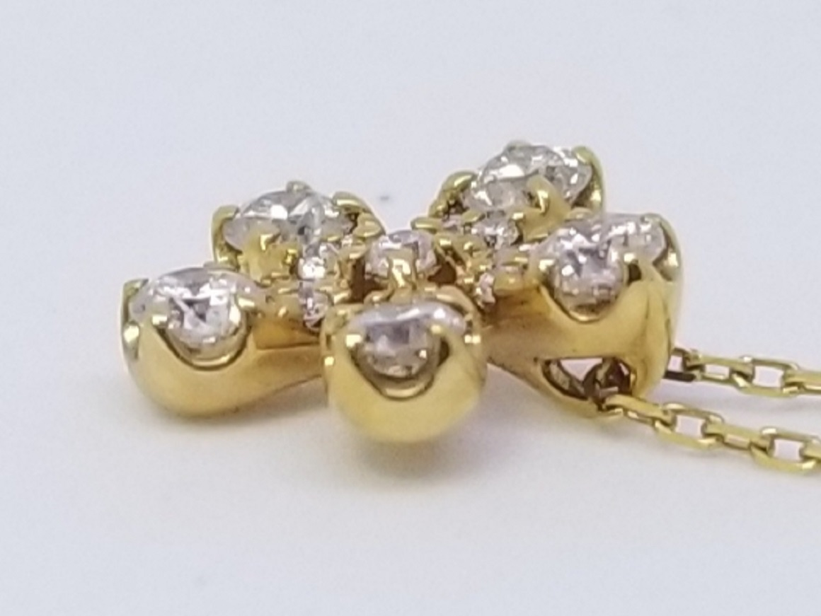 K18イエローゴールドダイヤプチネックレススライド05