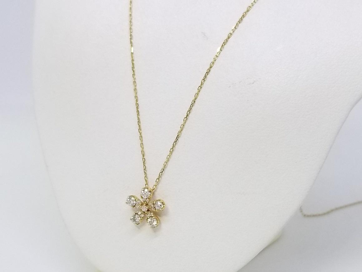 K18イエローゴールドダイヤプチネックレス