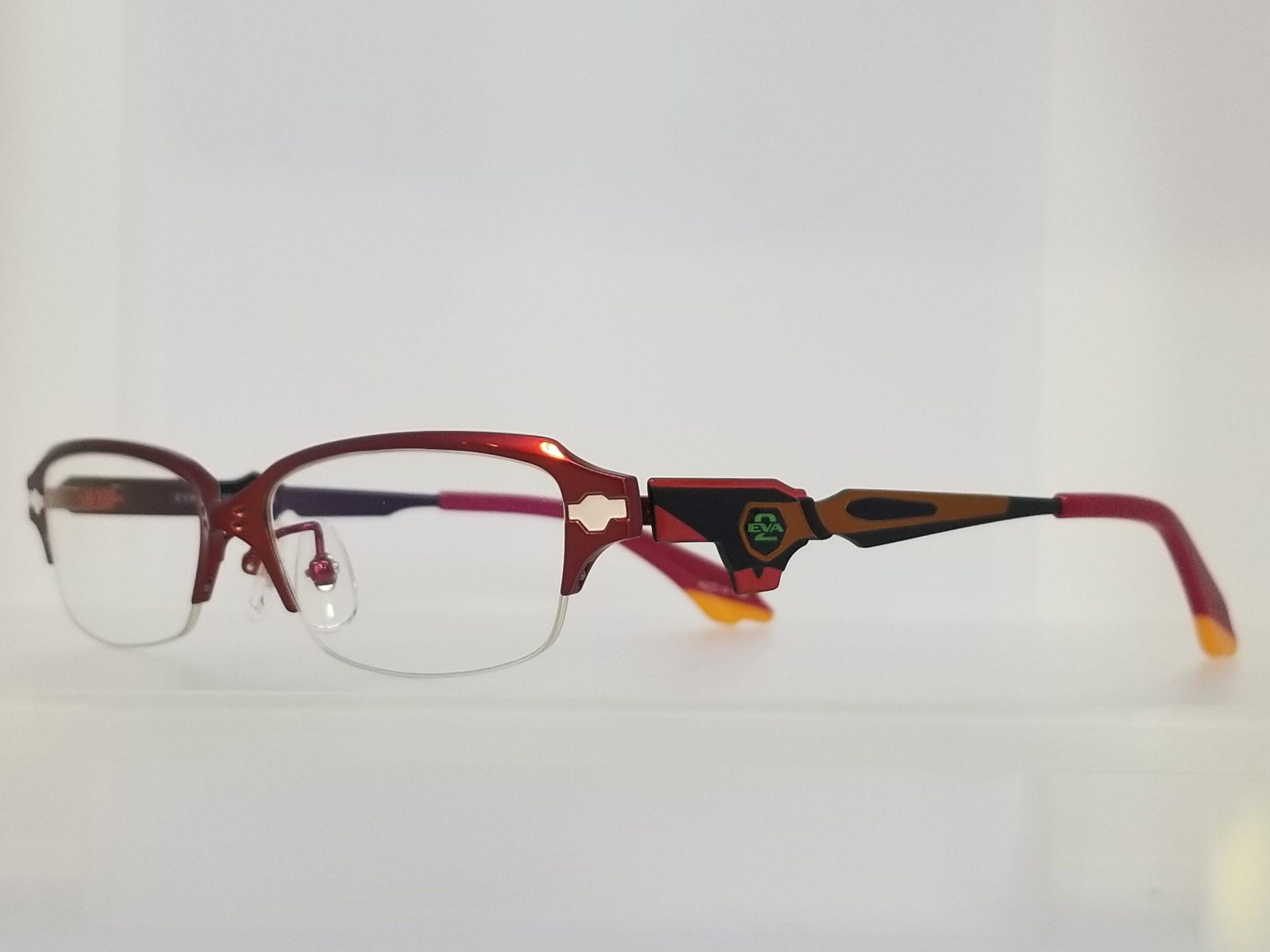エヴァンゲリオンコラボレーションメガネ EVA 2号機モデルスライド01